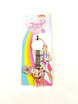 NIP JOJO SIWA KEYCHAIN SPINNER BOW BOW BOWS SHOE I SHIP EVERYDAY