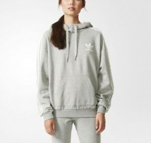 Destino nada intervalo  Adidas Originals 3 Stripe Hoody Women's AB2092 NWT Gray Hoodie Sweatshirt  Rare   eBay