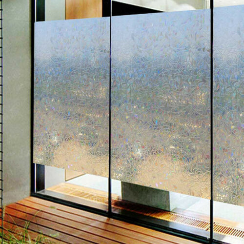 Stained Glass Panel Window Film Sticker No-Glue 3D Static Decor PVC 45*100CM