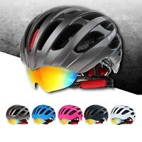 Unisex Cycling Mtb Road Bike Bicycle Outdoor Helmet With Glasses M/l 56cm-62cm