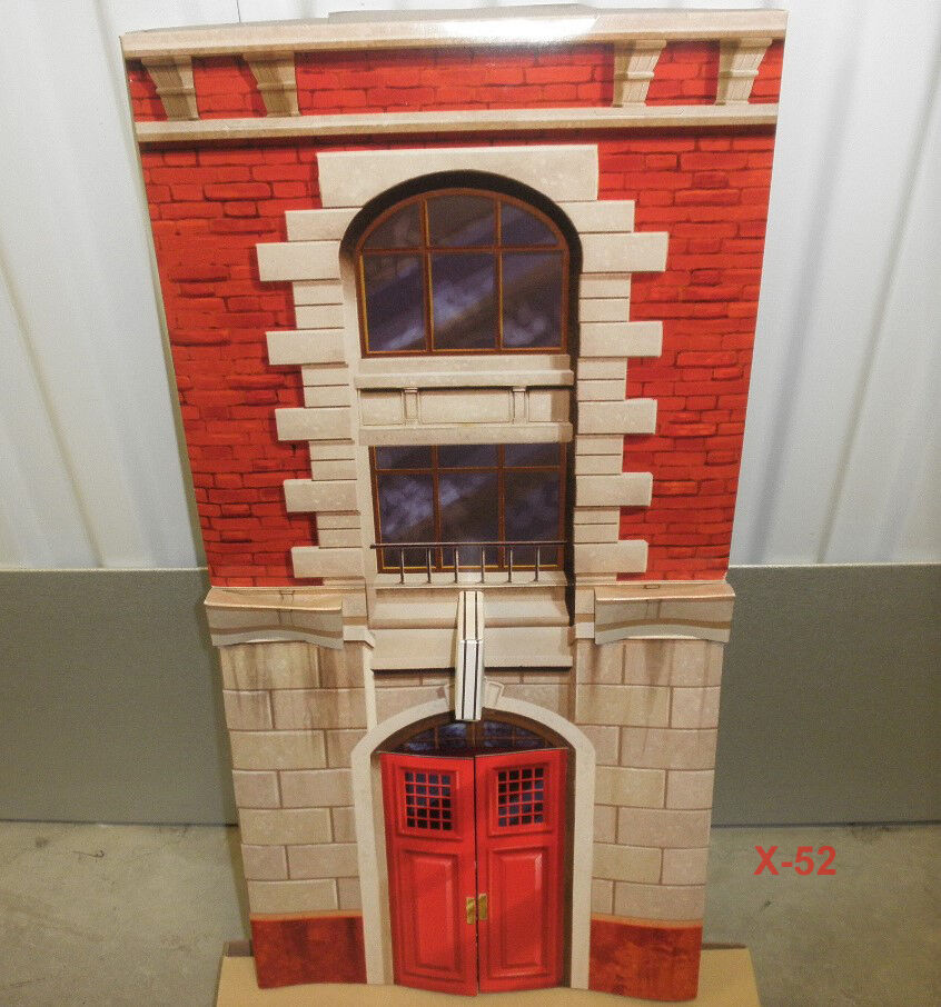 REAL GHOSTBUSTERS retro FIREHOUSE HQ playset for figure PAPER TOY (no figures)