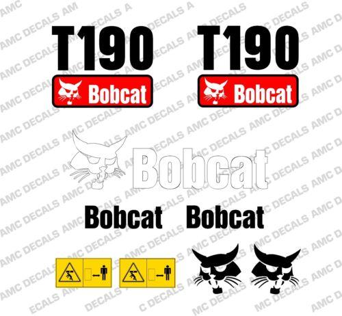 BOBCAT T190 SKID STEER DECAL STICKER SET