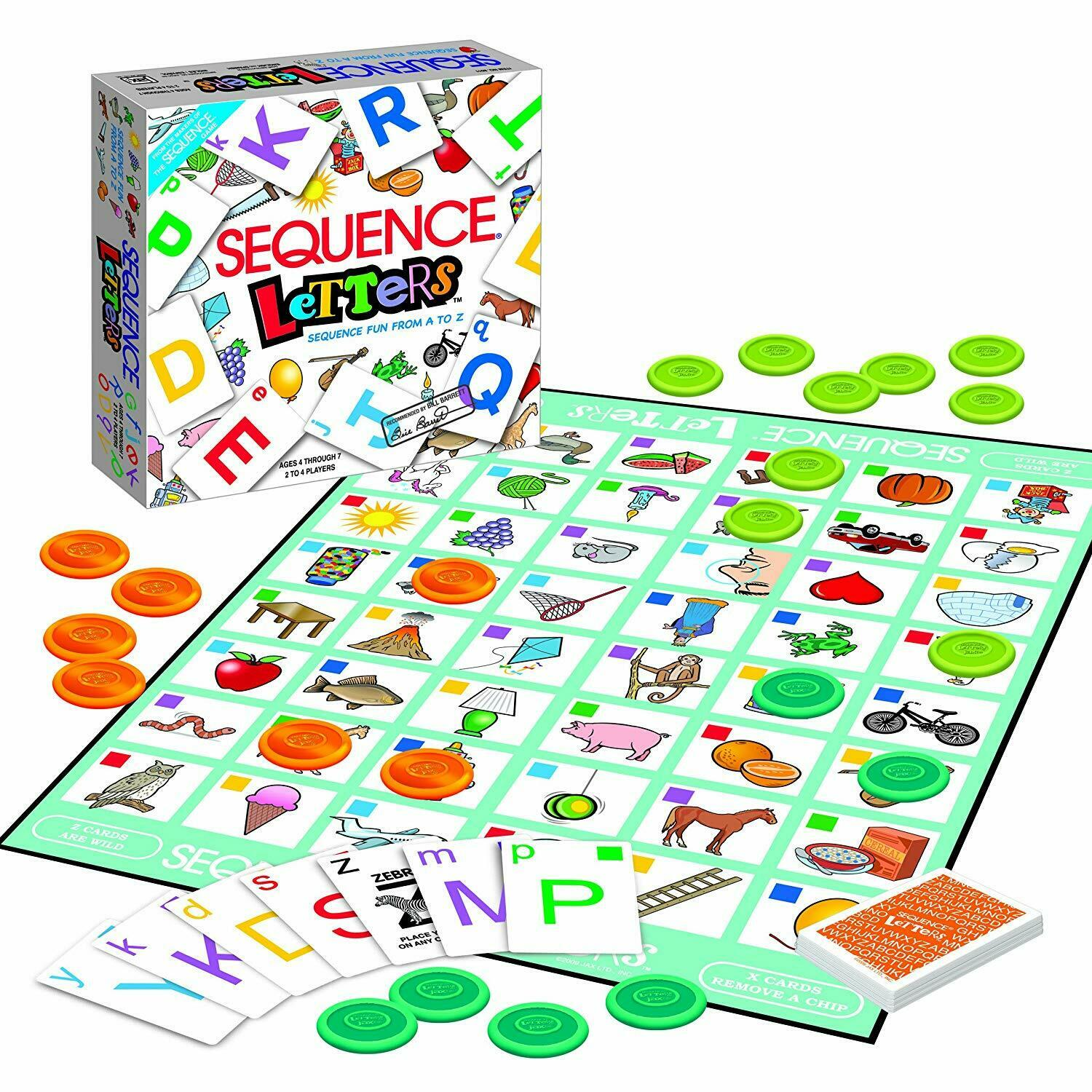 Sequence Letters Kids Educational Board Game Alphabet Learning for Age 4 5 6 7 2