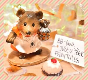 ❤️Wee Forest Folk BB-06a Just a Peek Halloween Fairy Tales LIMITED to 100 Bear❤️
