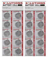 20x Solutions Knopfzellen Lithium-batterien Cr2032, 3v Teleshopping 01878
