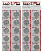 20x Solutions Knopfzellen Lithium-batterien Cr2032, 3v Teleshopping 01878