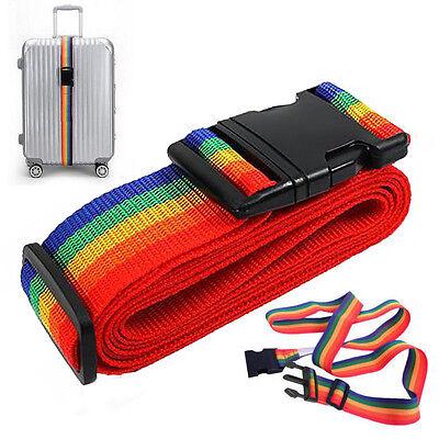 FL Einstellbar Koffergürtel Reise Koffer Kofferband Koffergurt Gepäck Band 190cm