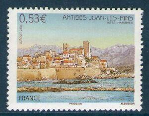 TIMBRE-3940-NEUF-XX-LUXE-ANTIBES-JUAN-LES-PINS-VUE-DU-VIEIL-ANTIBES