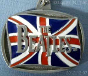 1996-Beatles-British-Flag-Keychain-Apple-Corps-Limited-KCB-3-USA-Key-Chain-FF