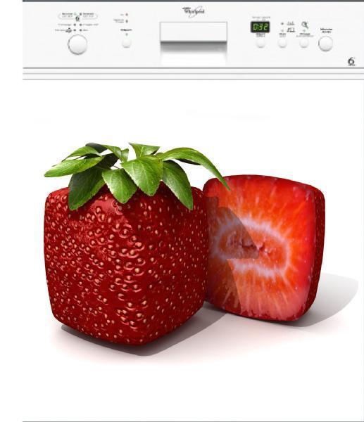 Adesivo Lavastoviglie Elettrodomestici Decocrazione Cucina Fragola 60x60cm Ref
