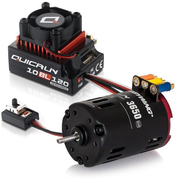 Hobbywing Quicrun G2 Sensorosso combo brushless Motor 120A ESC 8.5T 4560KV RC CAR