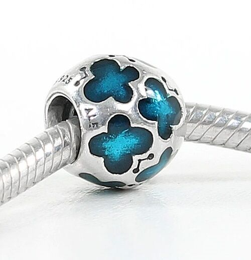Pandora Silver TEAL ENAMEL BUTTERFLY Charm - 790438EN08.RRP£40!!