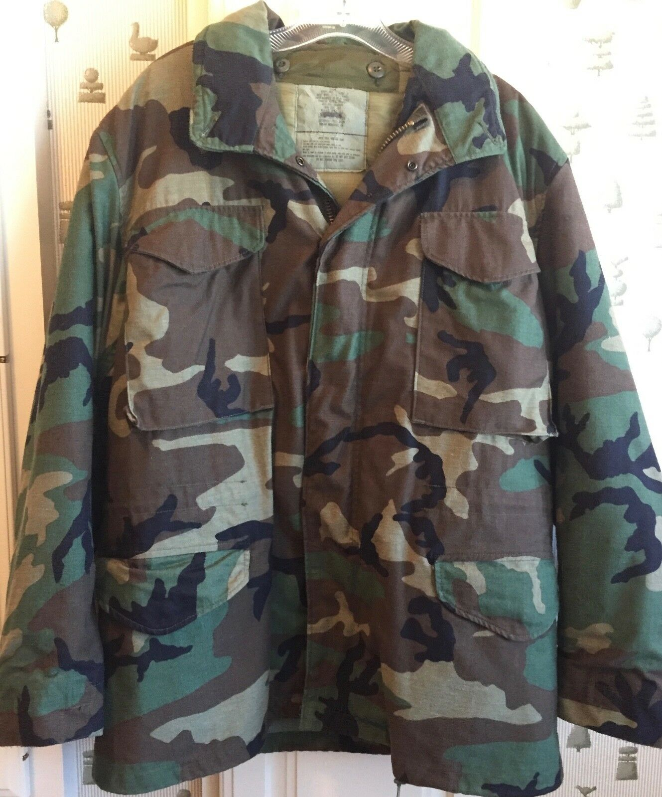 Herren Military Coat Camouflage Größe M Cold Weather Field w/Quilted Liner 1960s