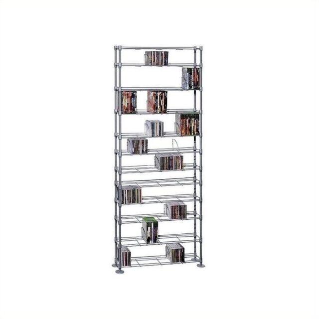 Atlantic 6313 5237 Maxsteel 12 Tier Multimedia Storage Rack For Sale Online Ebay