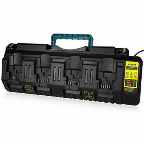 Energup DCB104 Replacement Charger For Dewalt 12V//Dewalt 20V Max 4-Port Li-Ion