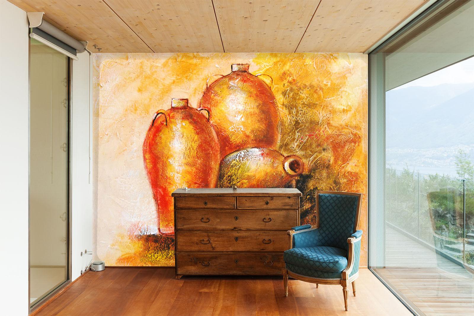 3D Kunstvase Malerei 6 Tapete Tapeten Mauer Foto Familie Tapete Wandgemälde DE