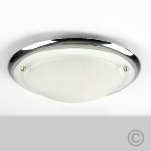 energy saving chrome glass flush bathroom ceiling light fitting zone rh ebay co uk