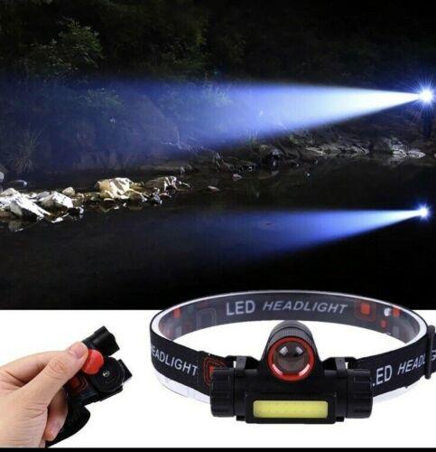 COB LED Headlamp USB Rechargeable Flashlight Mini Headlight head light Torch