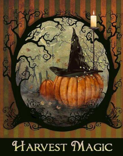 Harvest Halloween Black Hat,Cross Stitch Pattern Magic Studio