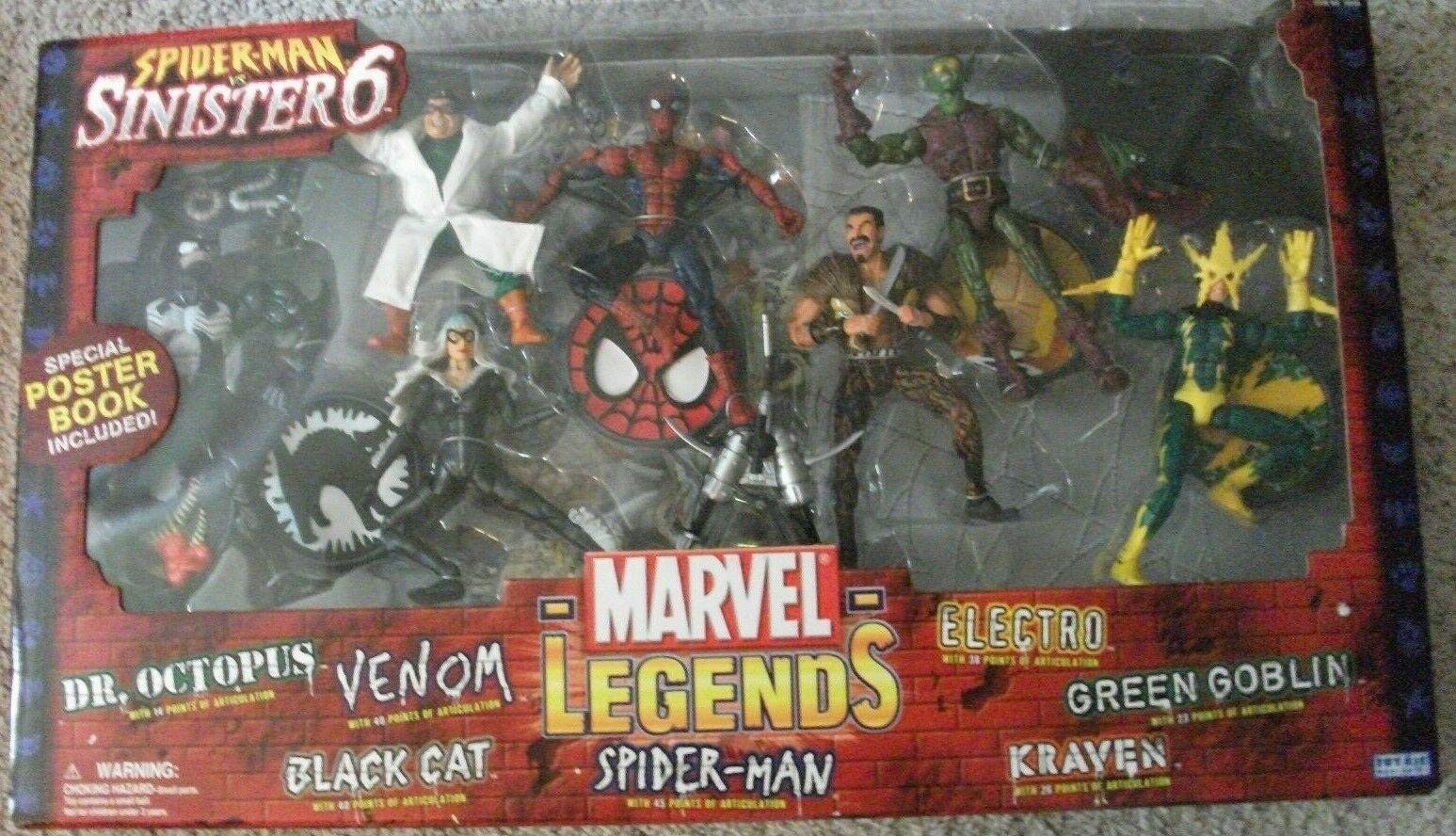 Marvel Legends Spider-Man Sinister 6 box set 6 in action figures Toy Biz 2004