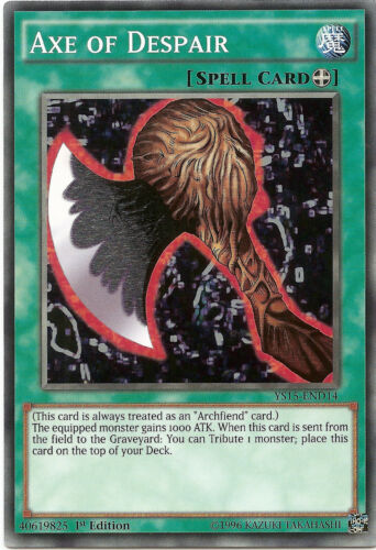 Axe of Despair YS15-END14 Common Yu-Gi-Oh Card Mint 1st Edition New