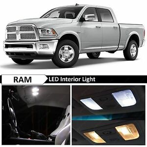 10x White Interior Error Free Led Light Package For 2009 2015 Ram 1500 Tool