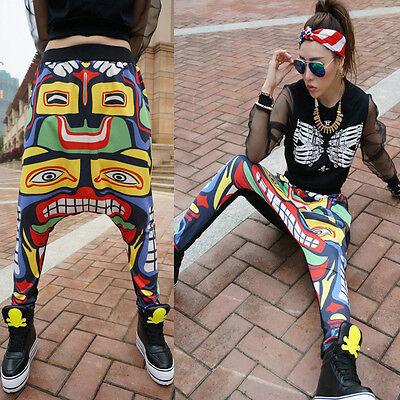 New Totems Loose Low Drop Crotch Harem Pants Punk GOTH Hip-Hop Dance Trousers