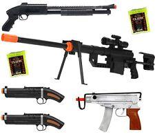 Shop-4-Airsoft *5 Guns & 2000 BBs* Airsoft SNIPER RIFLE & Shotgun &