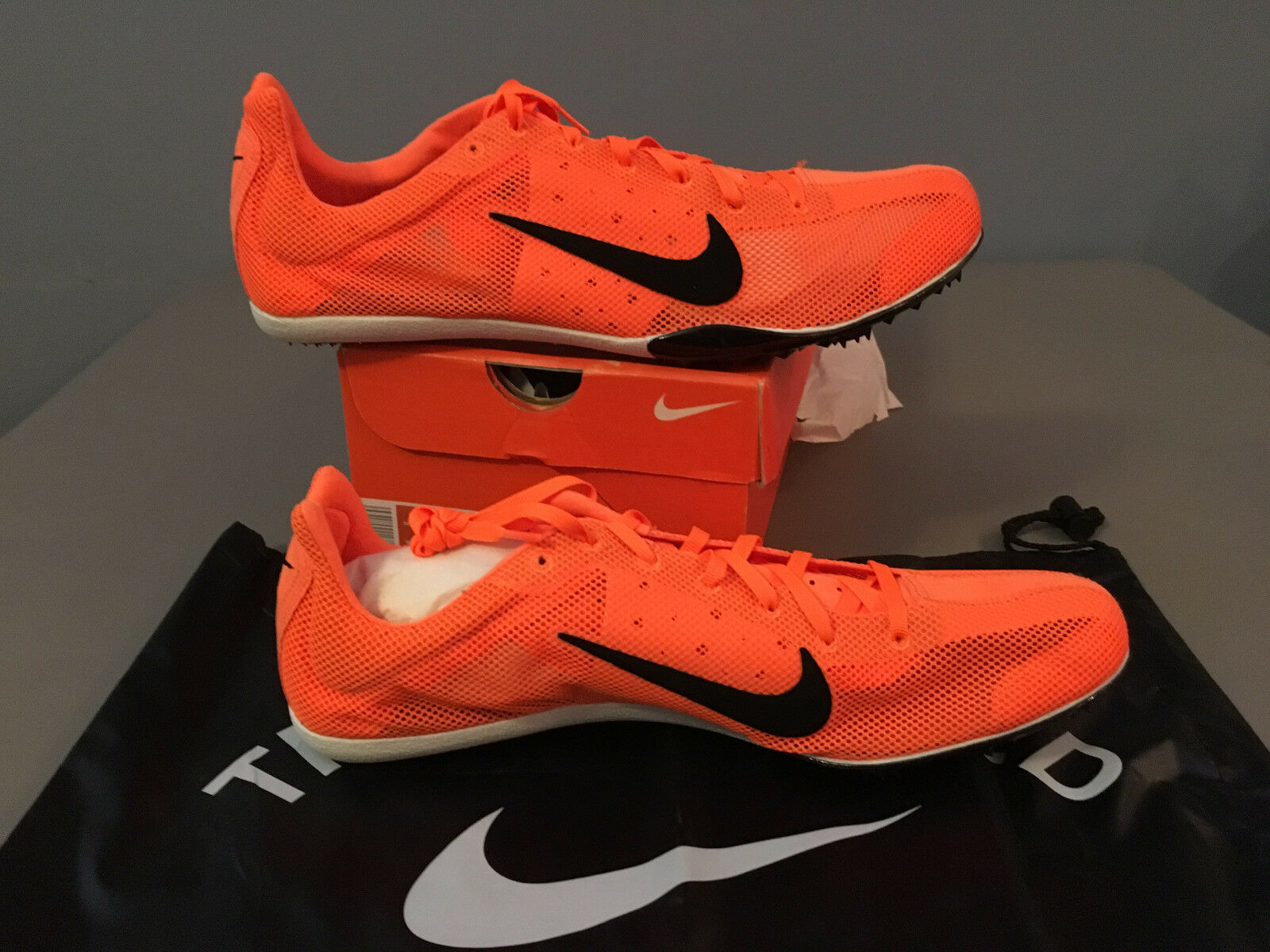 Nuevo En Caja Para Hombre Nike Zoom Mamba atletismo realizar un seguimiento de los picos de naranja (317573) Talla 13