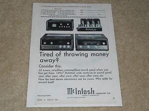 McIntosh-Ad-1966-275-Tube-Amplifier-MR-71-Tuner-C24-Preamp-1-page-RARE
