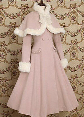 Gothic Ladies New Lolita Costume Warm Christmas Japan Stunning Wool Pretty Coat