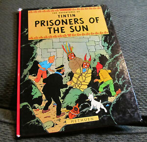 THE ADVENTURES OF TINTIN hardback PRISONERS OF THE SUN ...