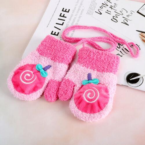 Children Girls Boys Winter Cartoon Lovely Patchwork Winter Warm Mittens Gloves