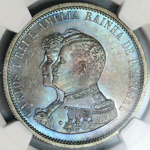1898-NGC-MS-65-Portugal-1000-Reis-India-Discovery-Mint-State-Coin-19091903C