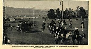 Burenkrieg Transvaal * Präsident Stein in Pretoria * Bilddokument 1900