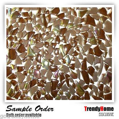 Sample- Brown ice Glass Mosaic Tile kitchen wall bath Kitchen Backsplash Sink