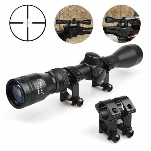 VictOptics 3-9x40 Hunting Shooting Air Rifle Gun Scope 1//4 MOA Sight Riflescope