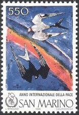 San Marino 1986 International Peace Year/Swallows/Birds//Rainbow 1v (n43495)