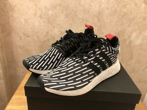 best sneakers 31d1b bdfdb Details about Men's Size 9 Adidas NMD R2 PK Primeknit Black/White Zebra  Stripes - BB2951