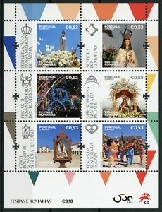 Portugal-Religion-Stamps-2020-MNH-Festivals-amp-Pilgrimages-Places-of-Faith-6v-M-S