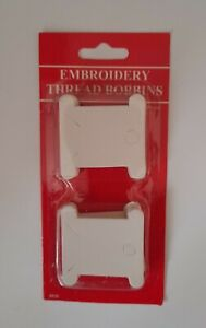 CARDBOARD EMBROIDERY CROSS STITCH THREAD BOBBINS Packs of 50