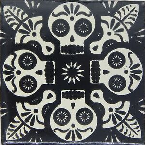 Image Is Loading Handmade Mexican Tile Sample Talavera Clay 4 034