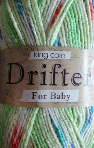 KING COLE DRIFTER DK KNITTING YARN FOR BABY  100g balls 5 colours