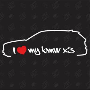 Shocker Car Sticker F25 Sticker Year 11-14 I love my BMW X3