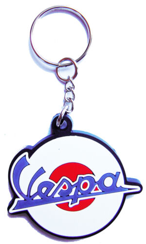 New Vespa Logo Motorcycle Racing Rubber keychain//keyring Collectible Gift