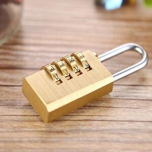 4 Digits Number Padlock Password Code Password Lock Brass Combination Lock