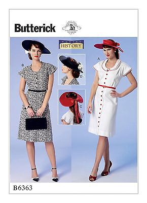 Butterick B6337 Making History PATTERN Misses Jackets /& FloorLength Skirts 6-22