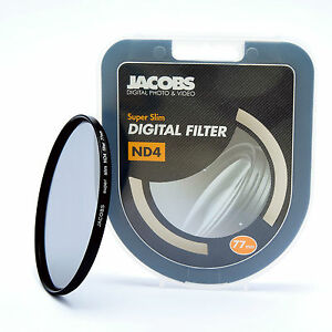 Jacobs ND4 Super slim Neutral Density filter 72mm for nikon canon sony   NEW PRO