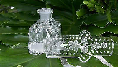 RARE Vintage CZECH Perfume-Bottle-MINT-Dauber Intact-Signed-LARGE/HEAVY~Awesome