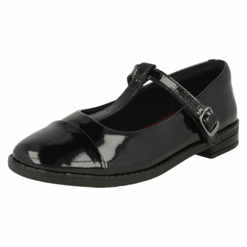 Bar Negro Drew Shine Girls School Zapatos Clarks T qEnSwCxp